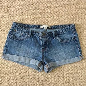 Forever 21 Size 27 Cuffed Denim Shorts